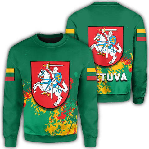 Lithuania Coat Of Arms Sweatshirt Spaint Style