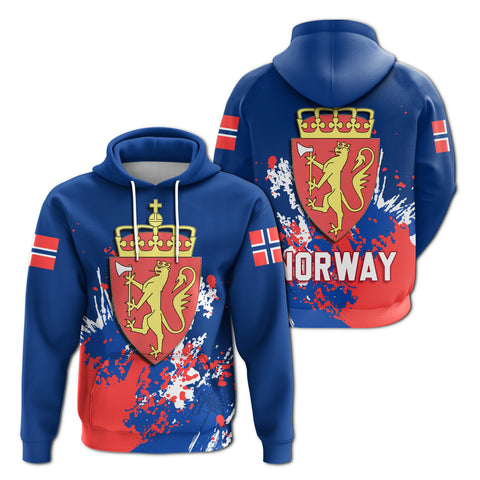 Norway Coat Of Arms Hoodie Spaint Style