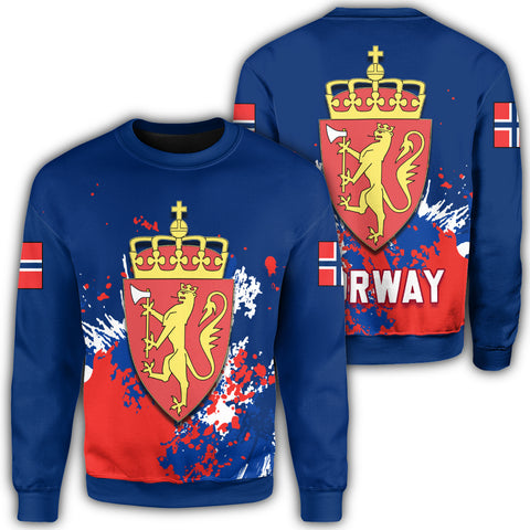 Norway Coat Of Arms Sweatshirt Spaint Style