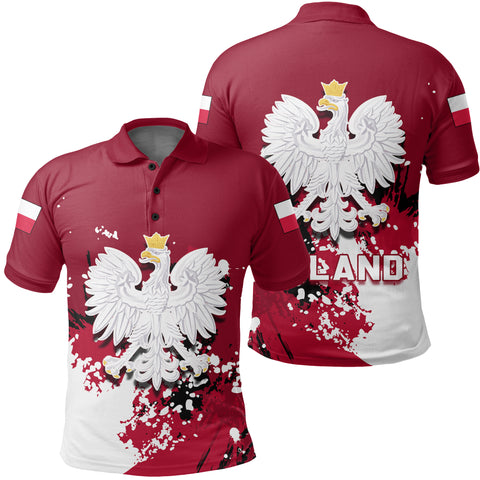 Poland Coat Of Arms Polo Shirt Spaint Style