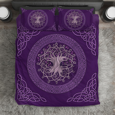 Image of Celtic Bedding Set - The Celtic Tree (Purple Edition) | Hot Sale | Hot Product