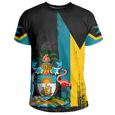 Bahamas Flag Coat Of Arm T-shirt - J4