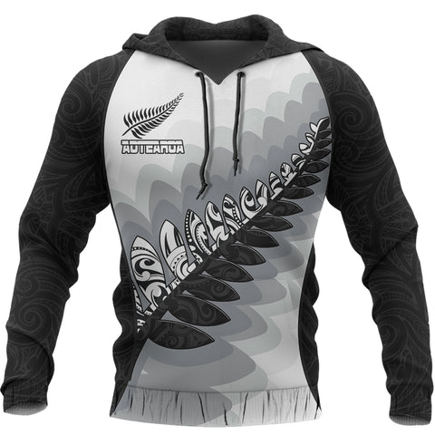 Aotearoa Maori Silver Fern Pullover Hoodie | Clothing | Love the World