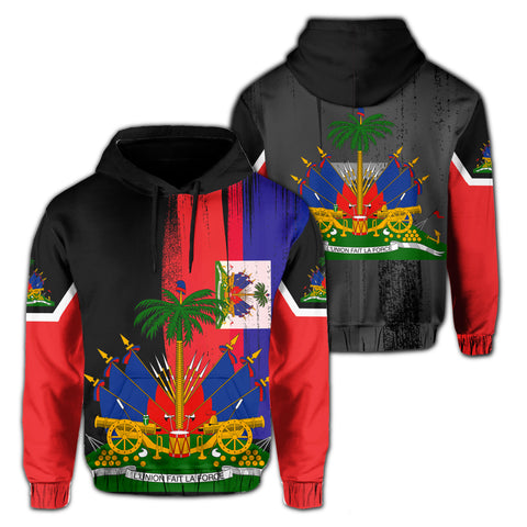 Haiti Flag Coat Of Arm Hoodie