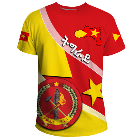 Tigray T-Shirt Coat Of Arms - Special Flag