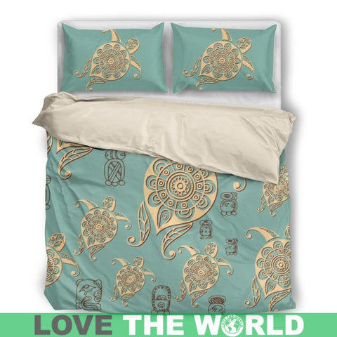 Image of Turtle Bedding Set 001 Bedding Set - Black / Twin Sets
