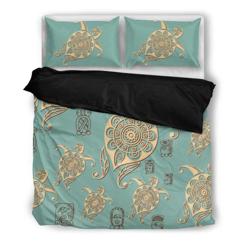 Turtle Bedding Set 001 Bedding Set - Black / Twin Sets