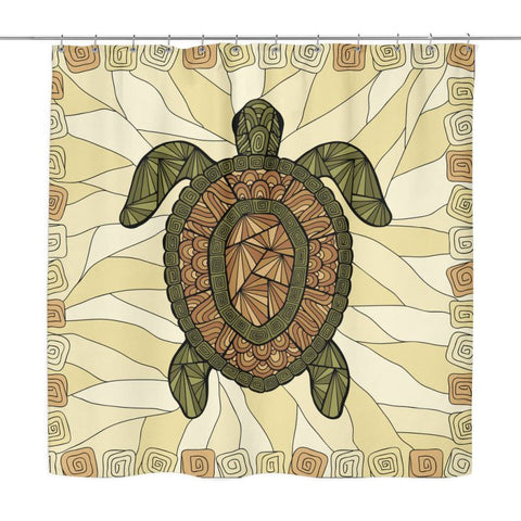 Turtle Shower Curtain Q1 Curtains