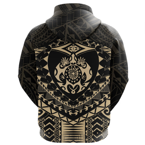 Image of Polynesian Tattoo Turtle Zip Hoodie K5