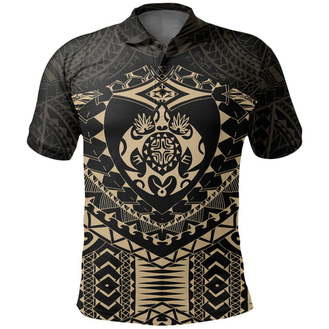 Polynesian Tattoo Turtle Polo Shirt K5