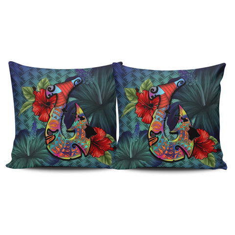 Kanaka Maoli (Hawaiian) Pillow Cases - Fish Hook Hibiscus | Love The World