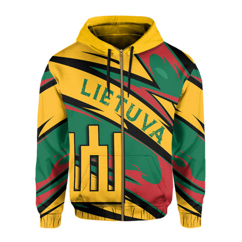 Lithuania Knight Forces Zip Hoodie - Lode Style