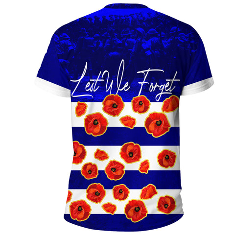 Australia T-Shirt Lest We Forget Remembrance Day, Poppy A7