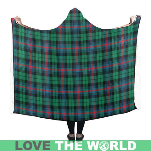 Urquhart Ancient Tartan Hooded Blanket - M One Size / Hooded Blanket 50X40 Blankets