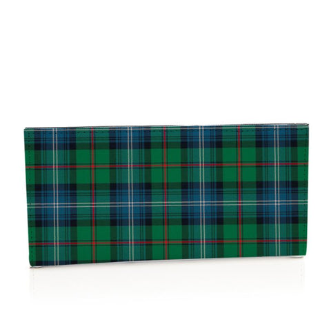 Urquhart Ancient Tartan Long Leather Wallet S1 Style-1 Bifold Wallets