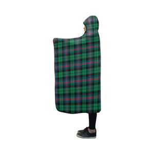 Urquhart Broad Red Ancient Tartan Hooded Blanket - M One Size / Hooded Blanket 50X40 Blankets