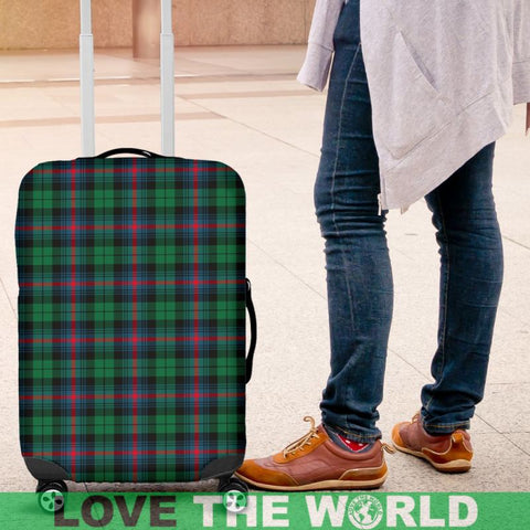 Urquhart Broad Red Ancient Tartan Luggage Cover Hj4 | Love The World