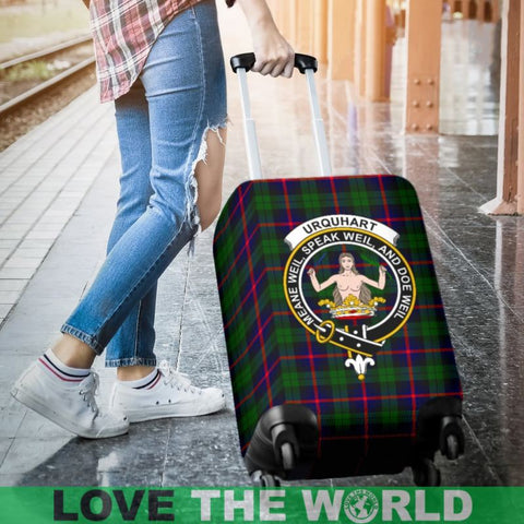 Image of Urquhart Tartan Clan Badge Luggage Cover Hj4 | Love The World