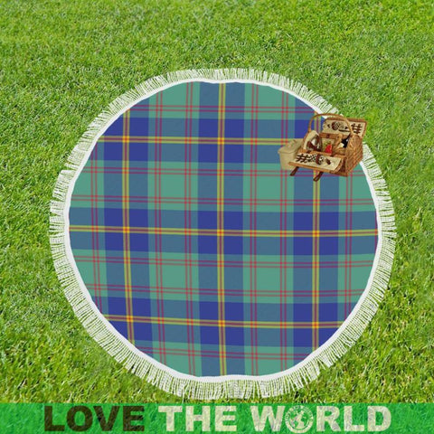Image of Us Marine Tartan Circular Shawl Th1 Shawls
