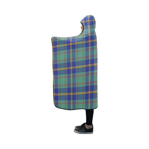 Us Marine Tartan Hooded Blanket - M One Size / Hooded Blanket 50X40 Blankets