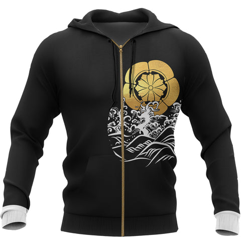 The Golden Koi Fish Zipper Hoodie A7