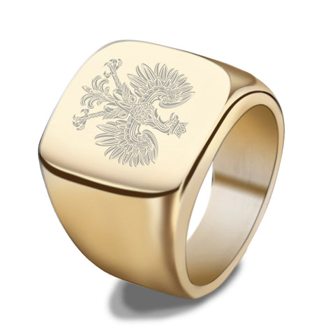 Poland Coat of Arms Ring / Polish Symbol Handmade Ring - H21