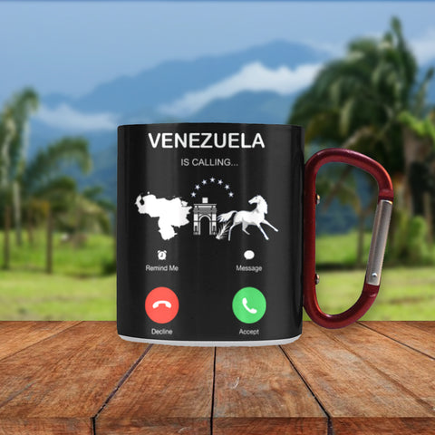 Venezuela Is Calling Insulated Mug - Mug Front - Color Black