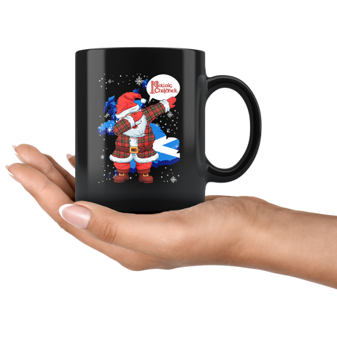 Scotland Christmas - Santa Claus Dabbing Black Mug | HOT Sale