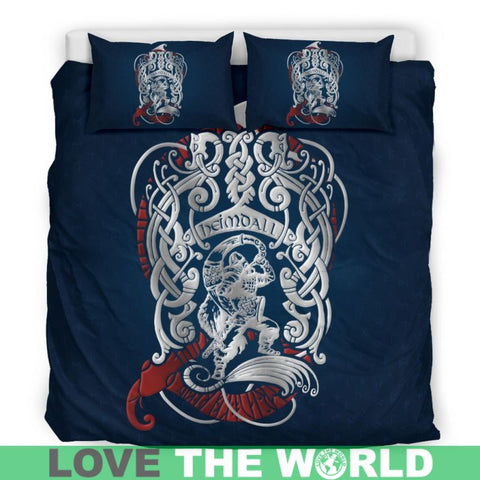 Viking Heimdall, viking bedding set, viking duvet cover, viking man, viking symbols