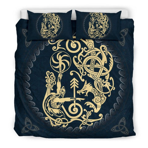 Viking Norse Gods Tyr, viking bedding set, viking duvet cover, viking man, viking symbols
