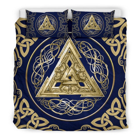 Viking Norse bedding set, viking bedding set, viking duvet cover, norse valknut, viking symbols