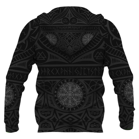 Image of Denmark Vikings Tattoo Hoodie K4