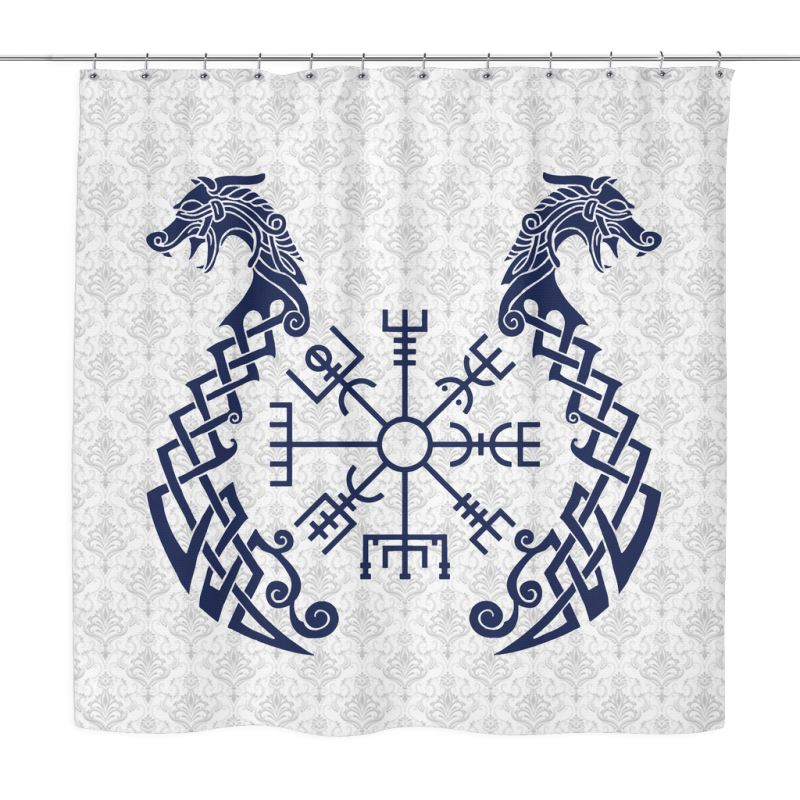 Viking Symbols Shower Curtain A0 1 Curtains