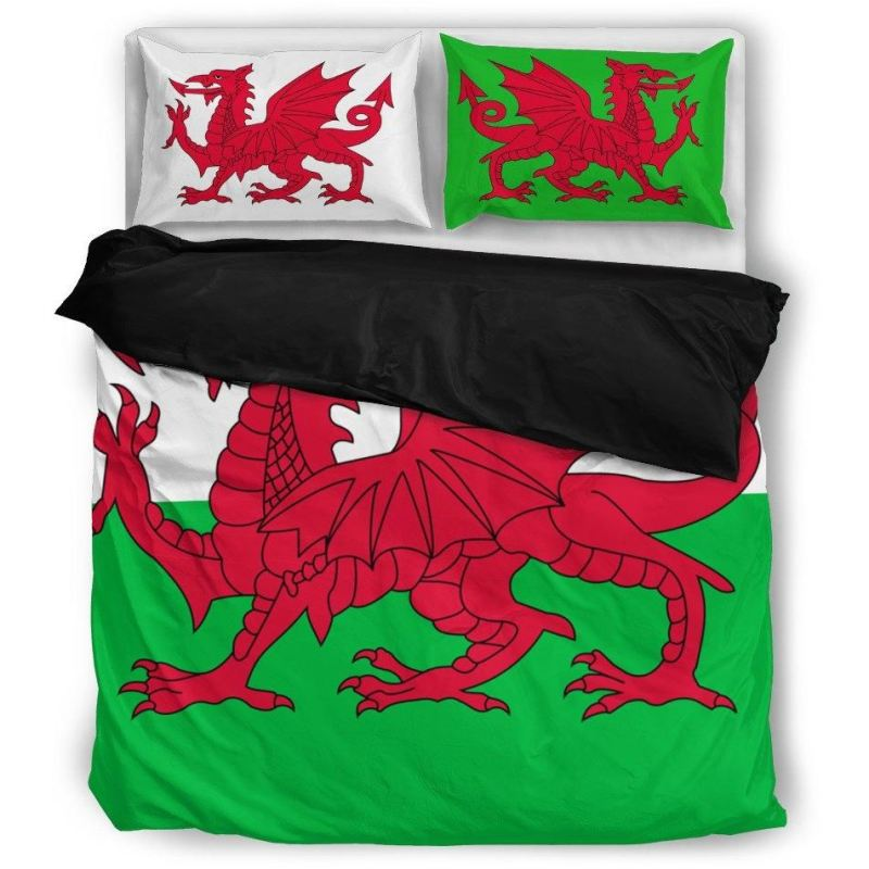 Wales Bedding Set 01 Bedding Set - Black / Twin Sets