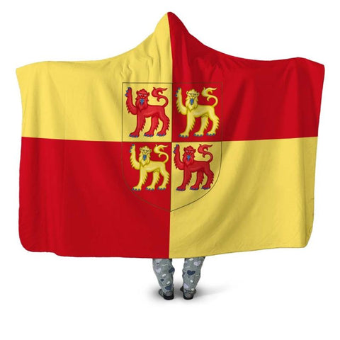 Wales Coat Of Arms Hooded Blanket - Bn01 Blankets