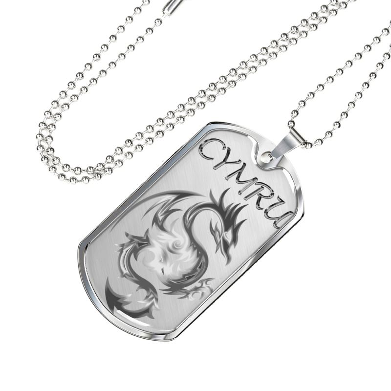 Wales (Cymru) Silver Spirit Dog Tag Th7 |Accessories| Love The World
