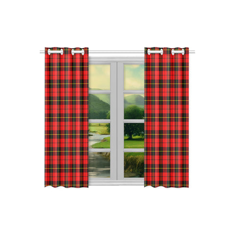 Image of Wallace Hunting - Red Tartan Window Curtain - Bn | 1sttheworld.com