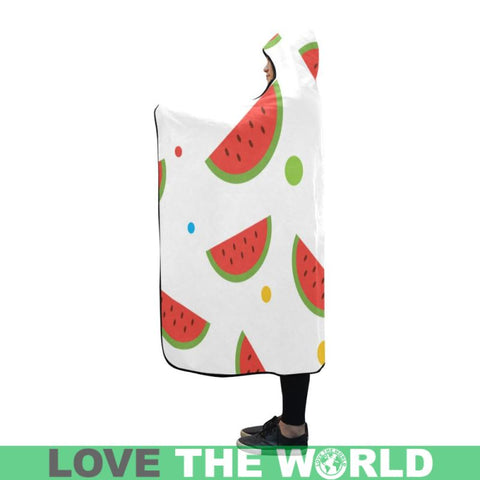 Water Melon Hooded Blanket 01 - Sd1 One Size / Hooded Blanket Sd1 80X56