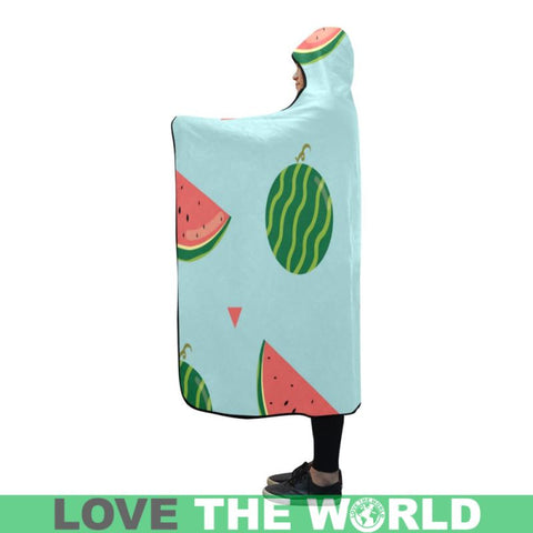 Water Melon Hooded Blanket 02 - Sd1 One Size / Hooded Blanket 80X56 Blankets