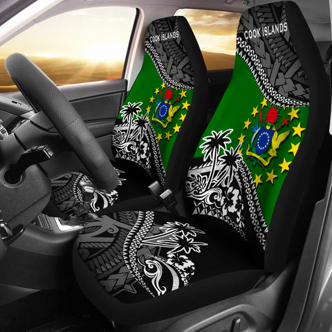 Cook Islands Car Seat Covers Fall In The Wave 1