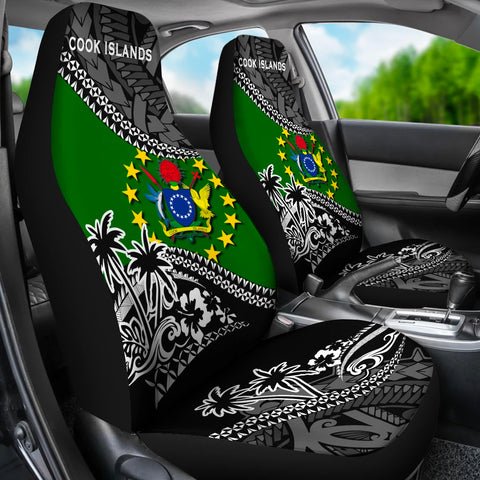 Cook Islands Car Seat Covers Fall In The Wave 3