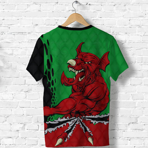 Image of Wales Rugby T Shirt Welsh Dragon