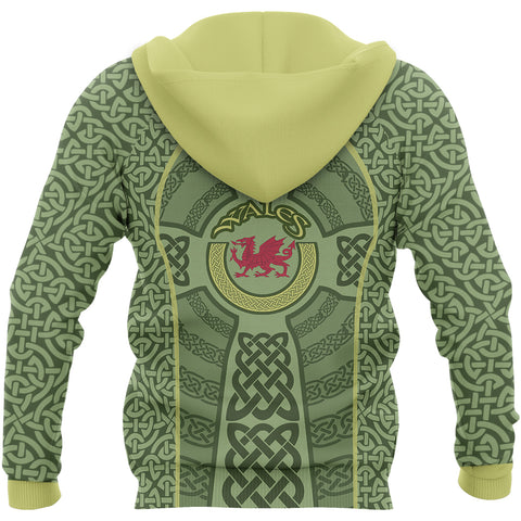 Welsh Dragon Celtic Unisex Hoodie - Back