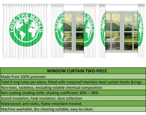 Image of Yap Window Curtain Turtle A24