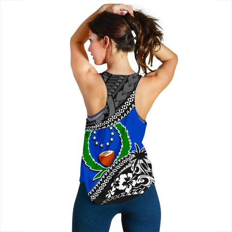 Pohnpei Women Racerback Tank Fall In The Wave 2