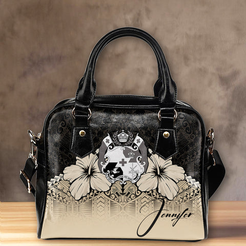 (Custom) Tonga Shoulder Handbag Hibiscus Personal Signature A024