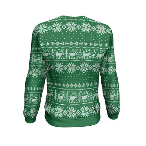 Christmas Custom Personalised Sweatshirt - Christmas Ugly Moose Green - BN