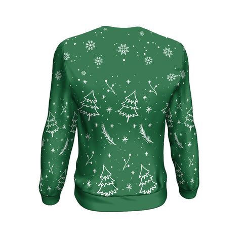 Christmas Custom Personalised Sweatshirt - Christmas Ugly Pine Green - BN