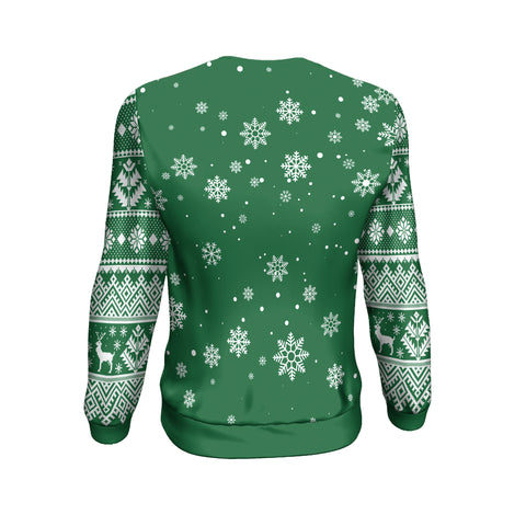 Christmas Custom Personalised Sweatshirt - Christmas Ugly Green - BN