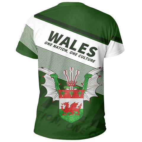 Wales T-shirt Flag Motto